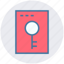 add, application, key, keywords, page, view, window icon