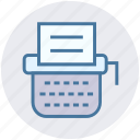 article, content, digital, office supplies, typewriter, typing machine icon