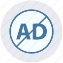 ad, ban, blocker, digital ad lock, marketing, protection icon