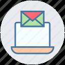 digital marketing, email, envelope, laptop, letter, notebook