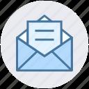digital, envelope, mail, message, open envelope, open letter icon