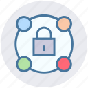connection, digital, lock, network, private, security icon