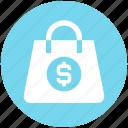 bag, cash, digital marketing, dollar, money bag