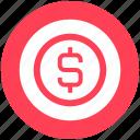 cash, coin, digital marketing, dollar, dollar coin, money icon
