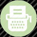 article, content, digital, office supplies, typewriter, typing machine