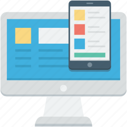 adaptive, adaptive design, layout, responsive, responsive screen icon
