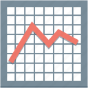 analytics, business graph, graph, line chart, statistics icon