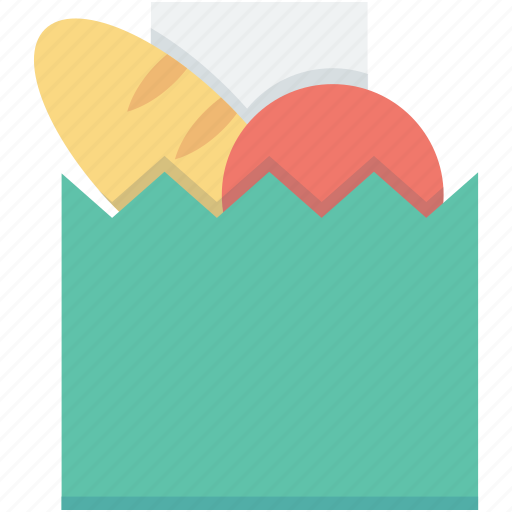 food store, grocery bag, grocery shopping, shopping bag, supermarket bag icon