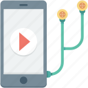 earbuds, earphones, media player, mobile media, mobile music icon