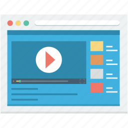 live streaming, media player, movie player, multimedia, video player icon