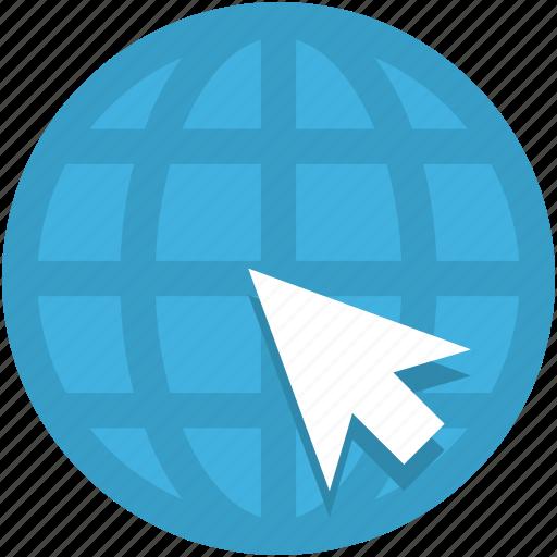 browser, click, cursor, globe, internet icon