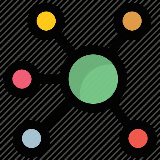 connectivity, matrix, mesh, network, web icon