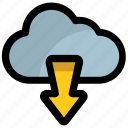cloud computing, cloud data center, cloud downloading, cloud hosting, cloud services icon