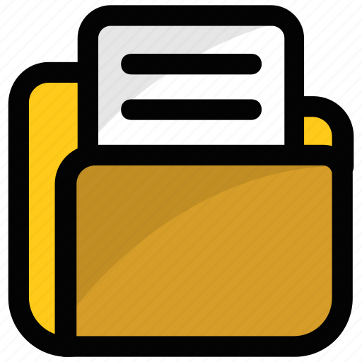 data, data storage, document, folder, record icon