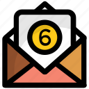 email messages, online messages, received mails, received messages, six messages icon