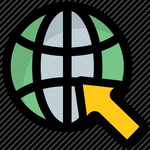 global click, global cursor, global internet, search engine, www icon