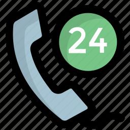 customer care, customer service, customer support, full time service icon