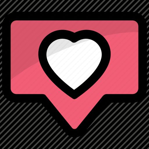 heart bubble talk, heart talk, love talk, online love emotions, talk about love icon