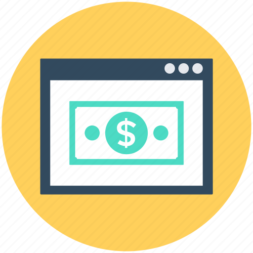 Dollar, online earning, online money, online payment, paper money icon - Download on Iconfinder