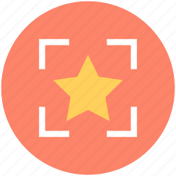 bookmark, favorite, five pointed, focus, star icon