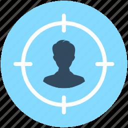business target, focus, person target, target, user target icon