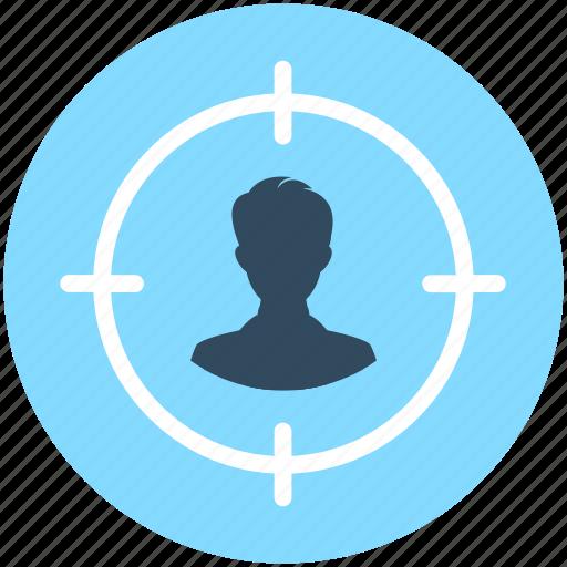 Business target, focus, person target, target, user target icon - Download on Iconfinder