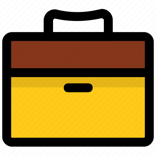 briefcase, business bag, office bag, office case, portfolio bag icon