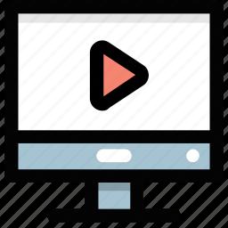 internet movie, internet videos, media play, online cinema, online video icon