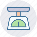 digital, digital scale, electronic scale, kitchen scale, weight machine, weight scale icon