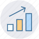 arrow, business, chart, diagram, digital marketing, graph icon