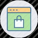bag, business, digital marketing, portfolio, site, webpage icon