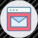business, digital marketing, envelope, portfolio, site, webpage icon