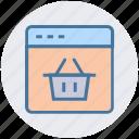 bucket, digital marketing, portfolio, site, webpage icon