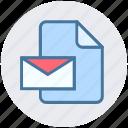 digital marketing, document, envelope, file, letter, message icon