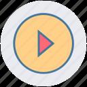digital, media, multimedia, music, play icon