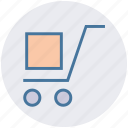 box, cargo, cargo cart, delivery, digital marketing, package, transport icon