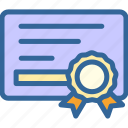 achievement, business, certificate, digital, marketing, office, work icon