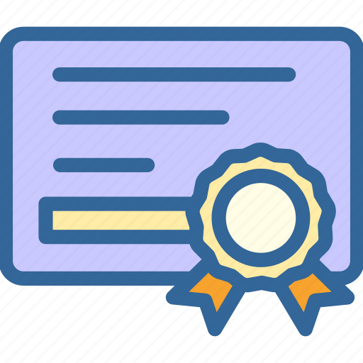 achievement, business, certificate, digital, marketing, office, work icon