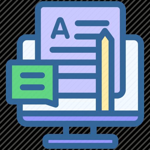 Business, marketing, writing, blog, digital, blogging, report icon