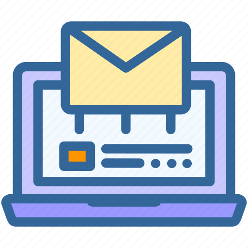business, digital, email, laptop, letter, mailing, marketing icon
