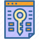 business, digital, key, keyword, marketing, research, seo icon