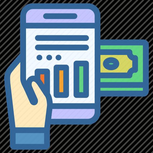 business, digital, graph, marketing, money, statistic, transaction icon