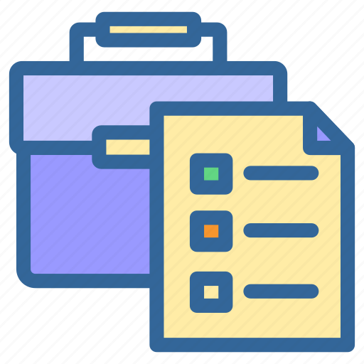 Case, business, marketing, list, digital, report, document icon