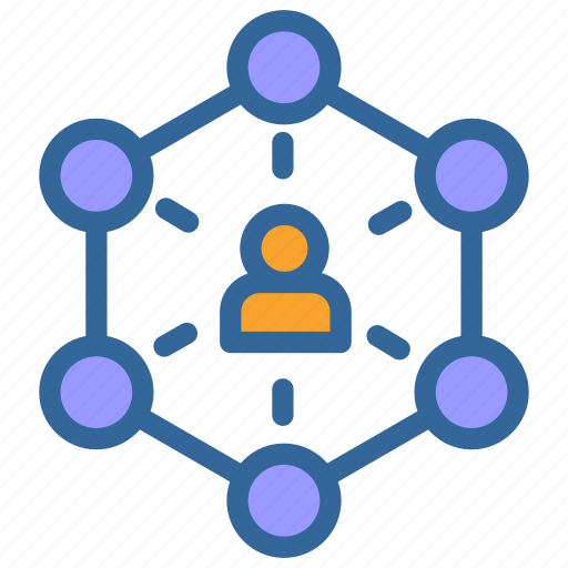 Networking, network, business, marketing, link, user icon