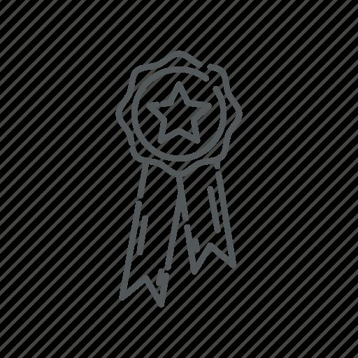 certificate, medal, premium icon