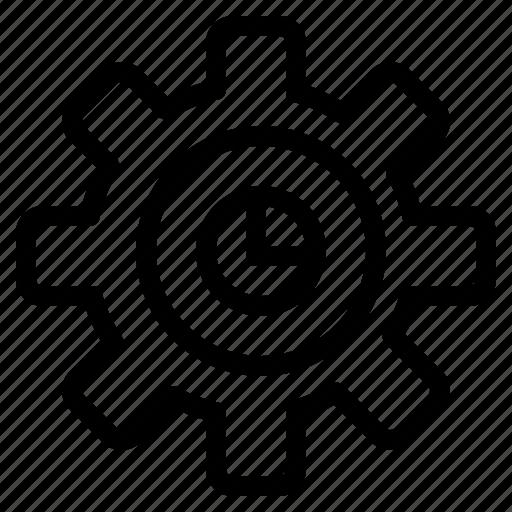 gear, graph, marketing, setting icon