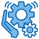 business, connection, data, digital, marketing, production, technology icon