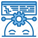 business, connection, data, digital, marketing, programmer, technology icon