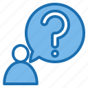 business, connection, data, digital, marketing, question, technology icon