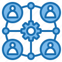 business, connection, data, digital, marketing, service, technology icon